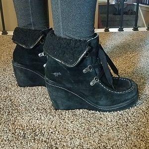 Rocket Dog black wedge boots size 7